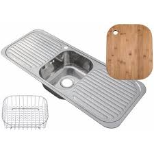 Inset Stainless Steel Single Bowl Kitchen Sink With  Drainers - Stainless steel single bowl kitchen sink