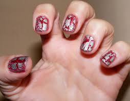 nails of the day notd silver crackle cosette u0027s beauty pantry