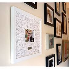 wedding guest book picture frame personalised wedding guest book frame white contemporary