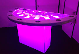 Black Jack Table by Led Black Jack Table Los Angeles Partyworks Inc Equipment