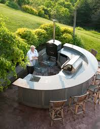 outdoor kitchens a growing trend curved kitchen island sinks