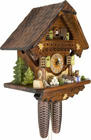 Modern Coo Coo Clock Cuckoo Clock 8 Day Movement Chalet Style 34cm By Cuckoo Palace 870