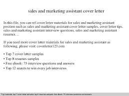 marketing assistant cover letter example 5333