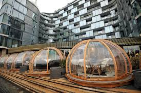 thames barrier restaurant london restaurant coppa club and its festive dining igloos by the