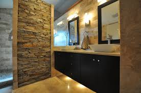 Concept Bathroom Makeovers Ideas Bed Bath Floating Vanity With Vessel Sinks And Bathroom Mirrors