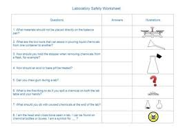 laboratory safety worksheet teaching and learning materials