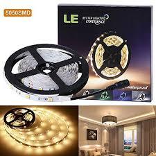 le better lighting experience le lux 12v flexible led strip lights warm white 150 units 5050
