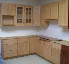 kitchen brown varnished wood cabinet with glass beautiful cupboard