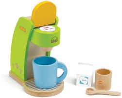 zubehör kinderküche holz educo kaffeemaschine mit zubehör aus holz für kinderküche