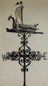 Maine Weathervanes Viking Ship Weather Vane Design Vikings Weather And Watercolor
