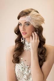 great gatsby headband 20s bridal headpiece great gatsby wedding 1920s feather