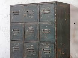 vintage industrial metal lockers antique office furniture