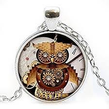 steampunk necklace vintage images Steampunk owl pendant vintage steampunk jewelry jpg