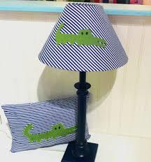 Pottery Barn Madras Crib Bedding by Alligator Pillow And Lamp Shade Set Alligator Madras Nursery