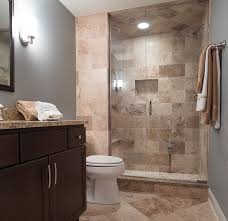 ideas for small guest bathrooms brown wall tiles for small guest bathroom ideas decolover