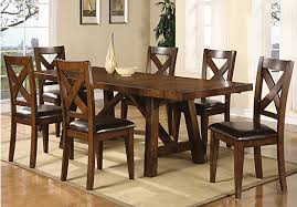 rooms to go dining sets mango burnished walnut 5 pc rectangle dining room dining room