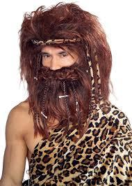 caveman halloween costume amazon com rubie u0027s costume bushy caveman beard and wig set brown