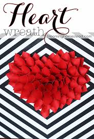 s day wreath diy paper heart wreath blooming homestead
