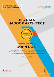 Hadoop Big Data Resume Big Data Hadoop Architect Course Big Data Architect Certification