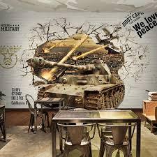 Coffee War 3d photo wallpaper 3d personalized wood brick patterned wallpaper