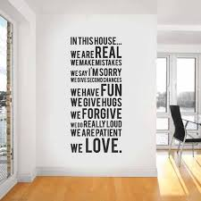 wall design unique wall white black house quotes