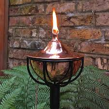 Patio Torch Lights by Patio Torches Elegant Metal Tiki Torch Deep Green Tiki Torch