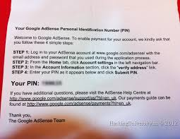 how to verify your google adsense pin and remove hold