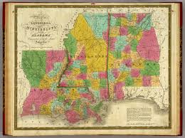 Map Of Louisiana Purchase by Of Louisiana Mississippi And Alabama Mitchell Samuel Augustus