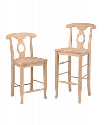 furniture double x back unfinished bar stools for kitchen