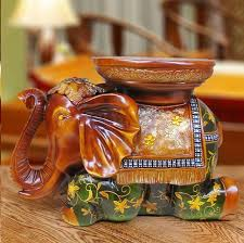 high density green resin lucky elephant ornaments stool european