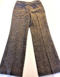 paul smith womens euro 42 us 4 6 brown plaid pants lightweight