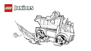lego juniors runaway trash truck coloring page coloring pages