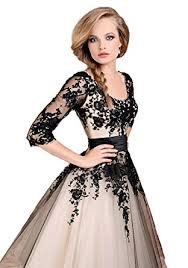 amazon com scarlett tea length lace wedding prom ball gown