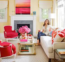 better homes and gardens furniture layout take a peek inside brooke shields u0027 colorful long island cottage