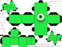 monsters inc mickey papercraft template papercrafts pinterest