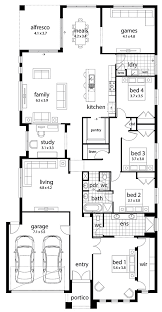 large family home floor plans home pattern