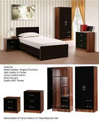 Good Quality Bedroom Set Marina Ultra High Gloss 3 Piece Trio Bedroom Sets Furniture Units