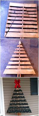 diy outdoor wooden pallet trees with lights ultimate