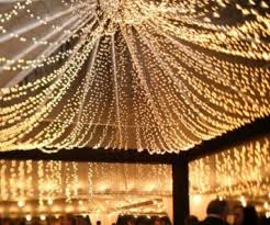 Outdoor Lighting Party Ideas - fairy lights turn any outdoor event into a magical evening