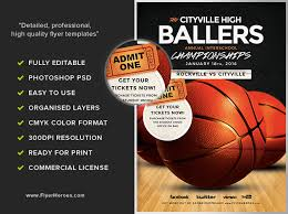 basketball flyer template flyerheroes