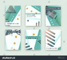 fashionable original cover stylish business card stock vector