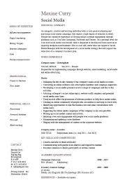 communications resume template social media resume coordinator