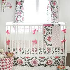 ragamuffin in pink crib baby bedding by new arrivals