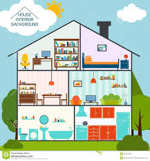 house interior background stock vector image 40781828
