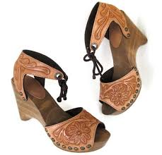 Handmade Shoes Usa - carved traditional floral clog shoes handmade in the usa by