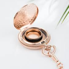 ring holder for wedding gold pocket wedding ring holder with chain the knot shop