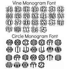monogrammed fonts free circle monogram fonts monogrammed pinteres