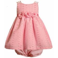 bonnie jean infant pink eyelet dress pink baby