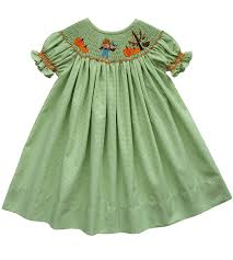 carouselwear smocked fall leaves bishop