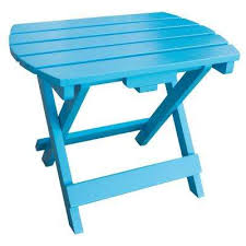 Aqua Side Table Wood Outdoor Side Tables Patio Tables The Home Depot